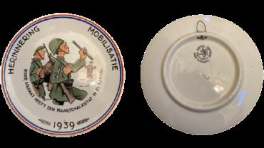 Bordje herinnering mobilisatie societe ceramique
