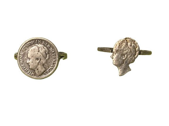 Ringen Wilhelmina munten Stil Verzet