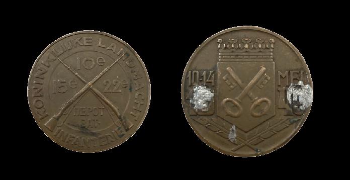 Penning Koninklijke Landmacht Infanterie 10-14 mei 1940 Leiden