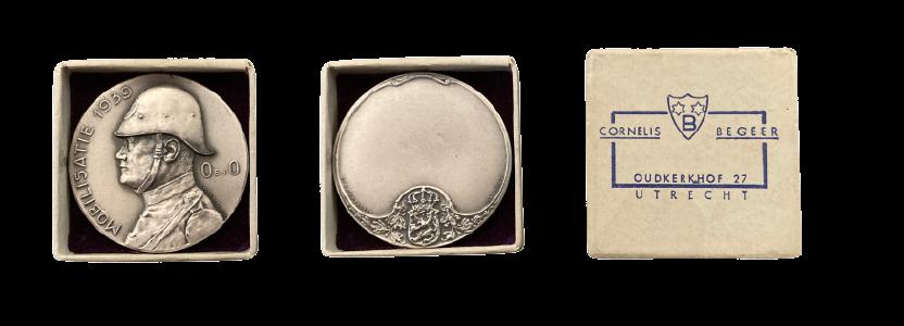Penning Mobilisatie 1939 Ontwikkeling en Ontspanning (O en O) in zilver