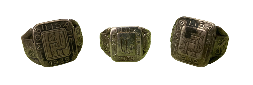 Zilveren Ring Mobilisatie 1939 Nederland Paraat met Monogram