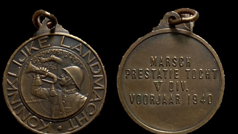 penning marsch prestatie toch V div voorjaar 1940 koninklijke landmacht