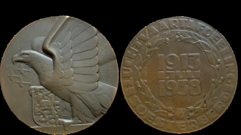 Penning 25 jarig jubileum Luchtvaartafdeeling Soesterberg 1913 1938 begeer