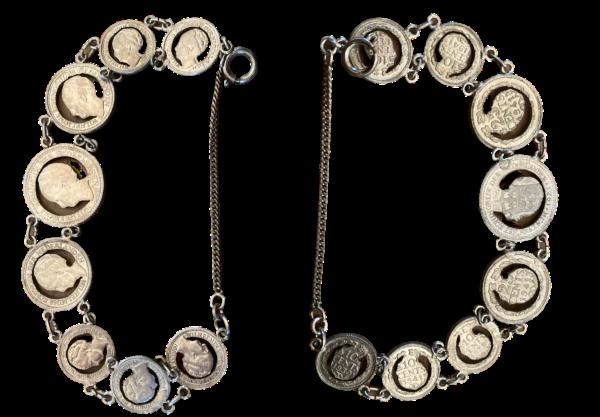 Armband met uitgezaagde Wilhelmina Munten Stil Verzet